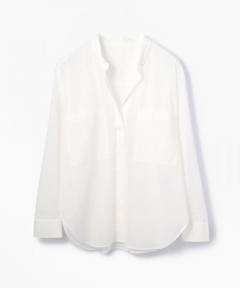 コットンボイル ビッグシャツ