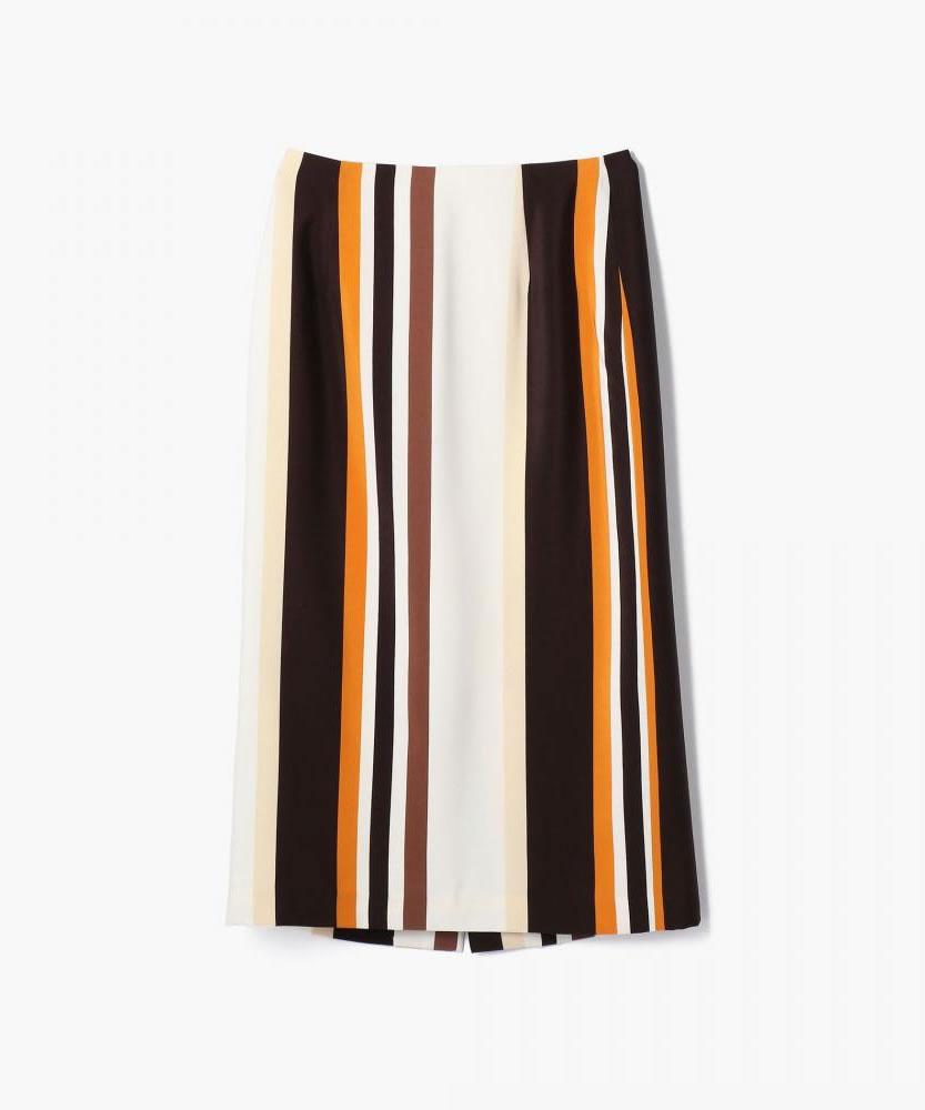 マルチストライプ ロングタイトスカート