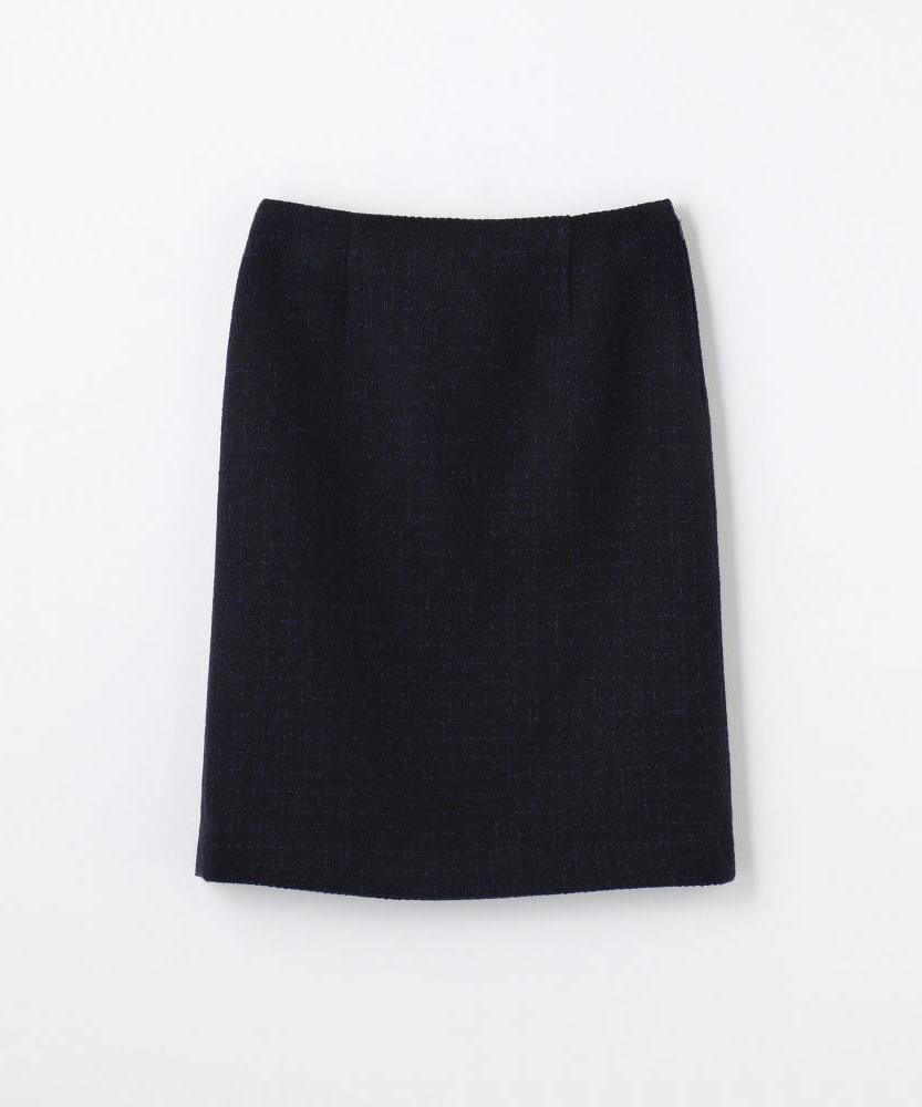ミックスツイード Iラインスカート