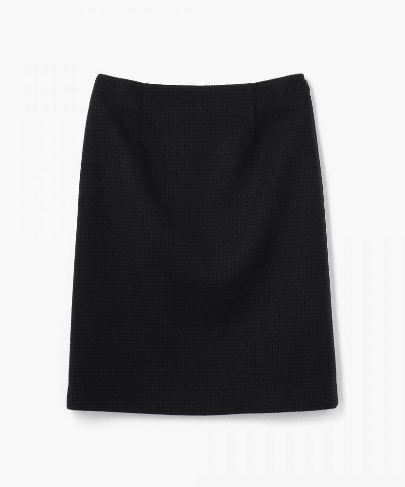 ワッフルツイード Iラインスカート