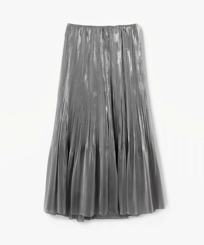 【WEB先行予約】ブライトオーガンジー マキシプリーツスカート