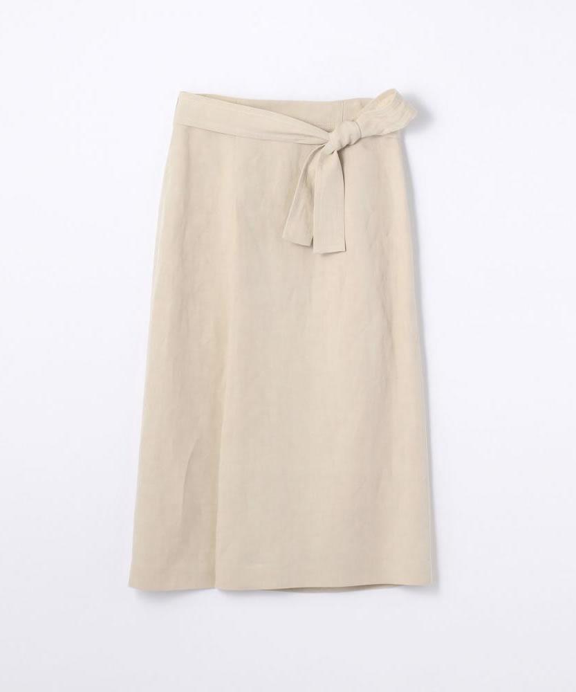【WEB先行予約】リネンレーヨン ベルテッドスカート