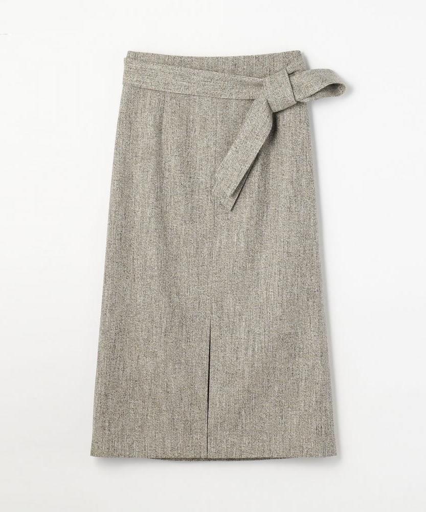 コットンウールツイル ベルテッドスカート