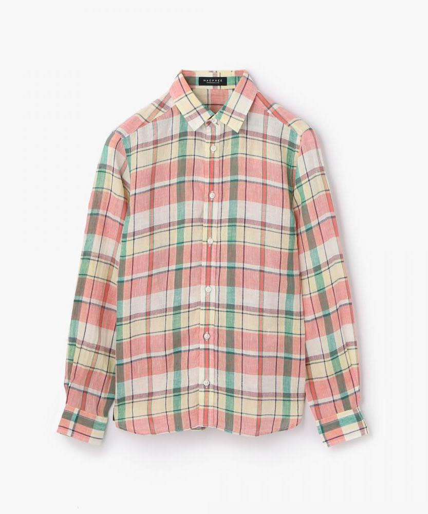 リネン レギュラーシャツ