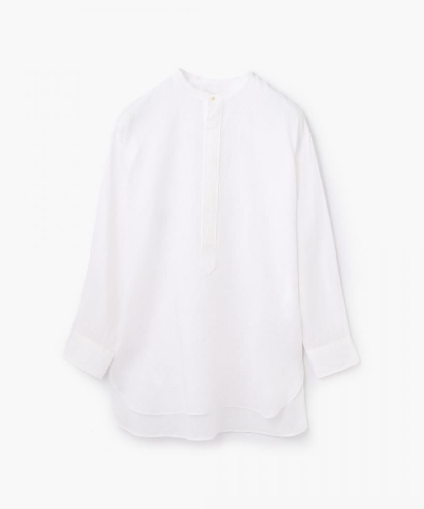 リネン スタンドカラービッグシャツ