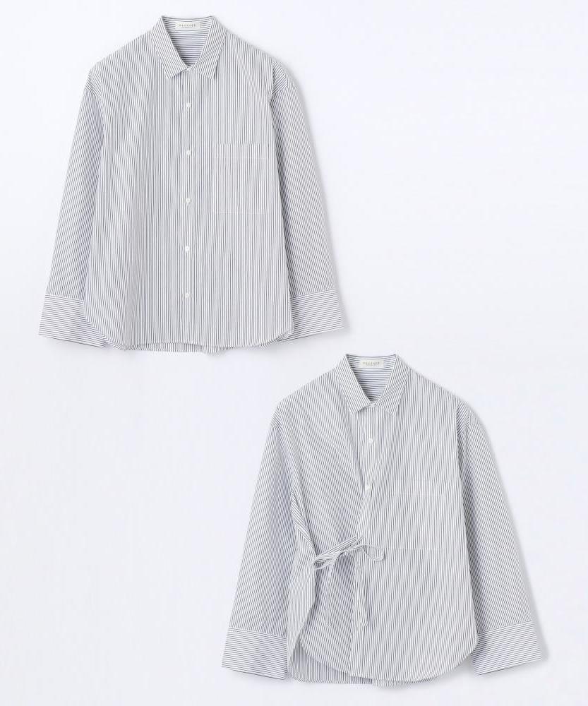 コットンブロード 2-wayカシュクールシャツ