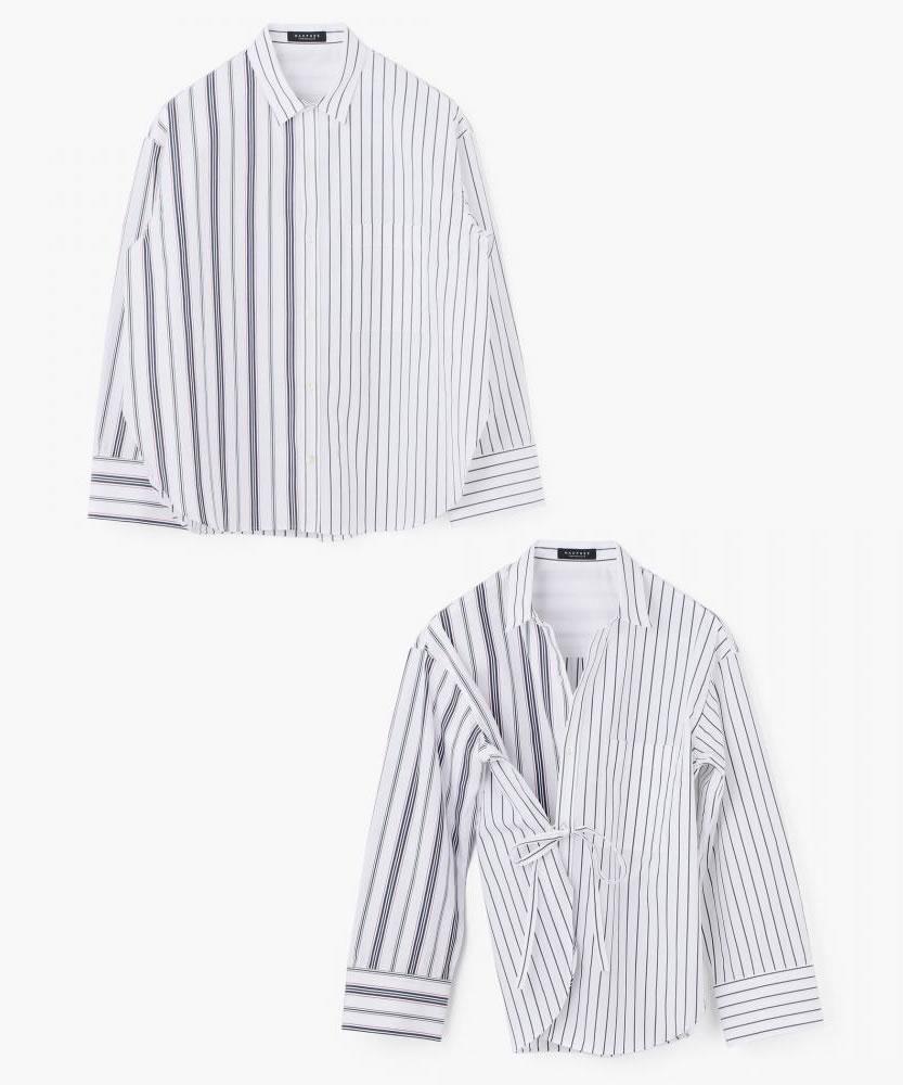 コットンタイプライター 2-wayカシュクールシャツ