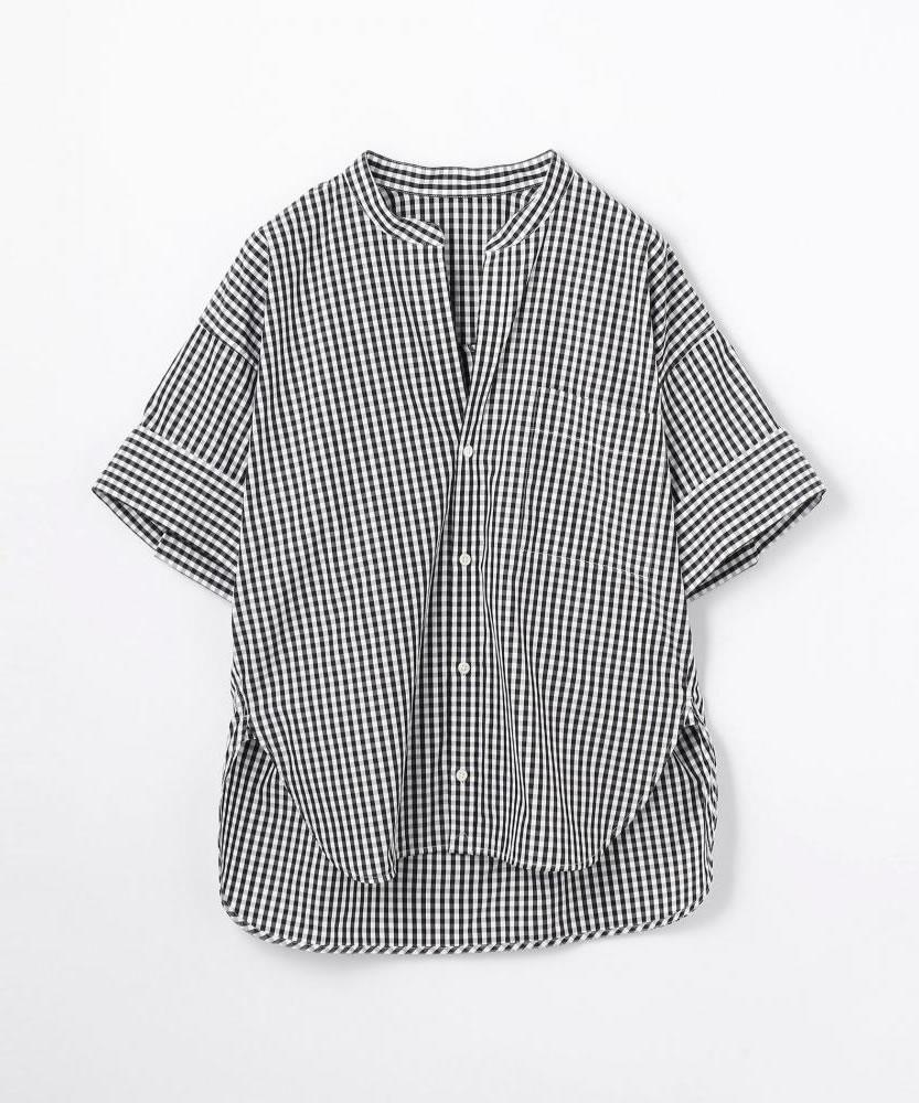 コットンブロード ハーフスリーブワイドシャツ