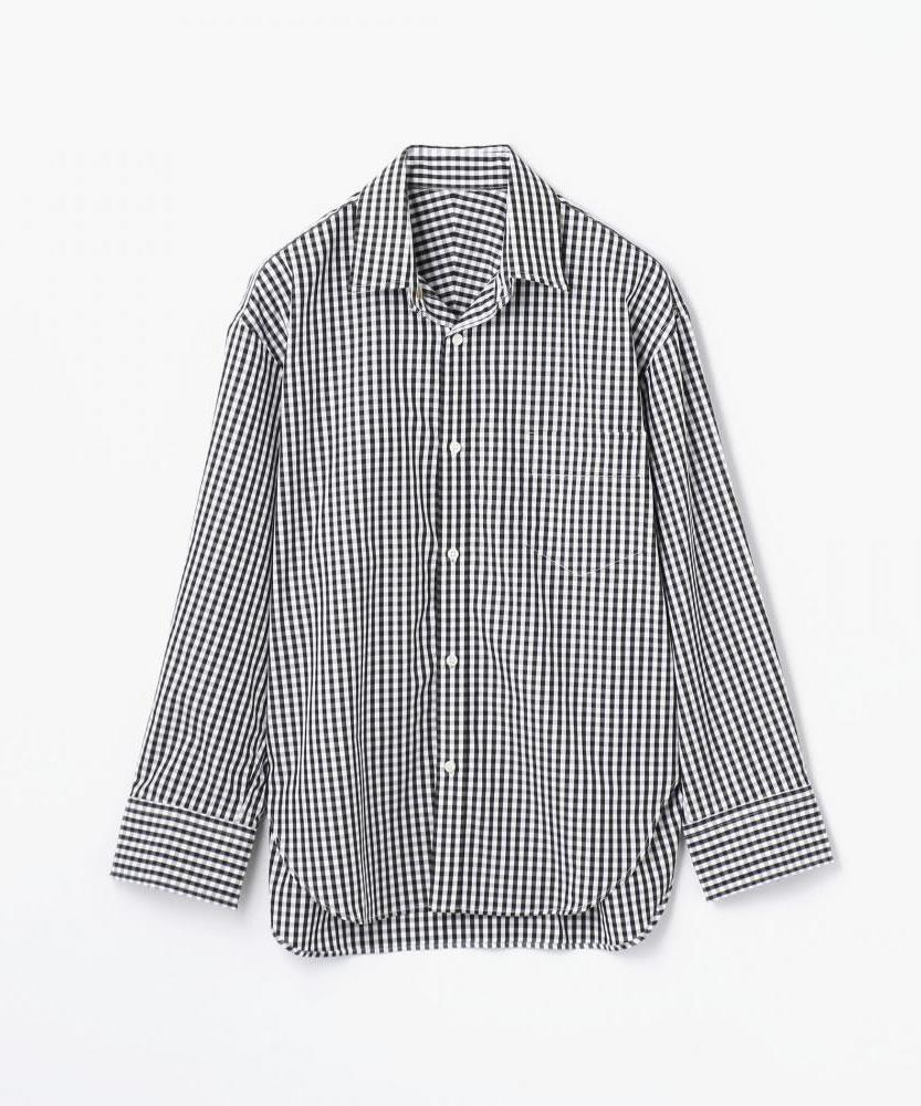 コットンブロード コクーンバックワイヤーシャツ