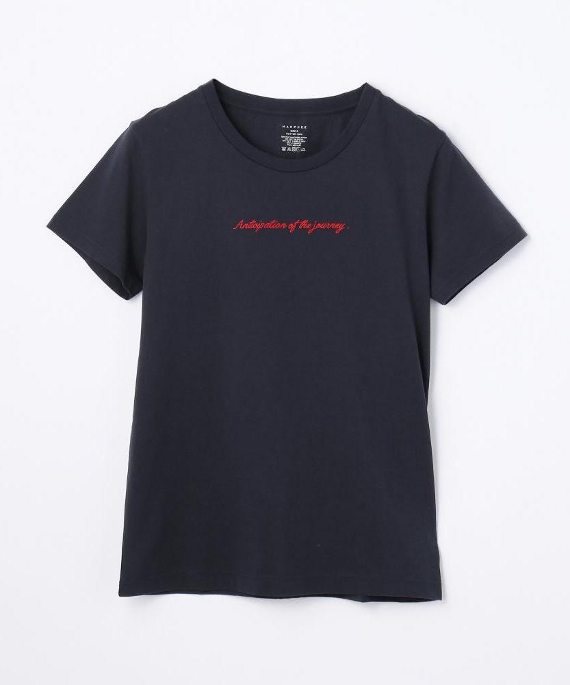 コットンジャージー レタードTシャツ