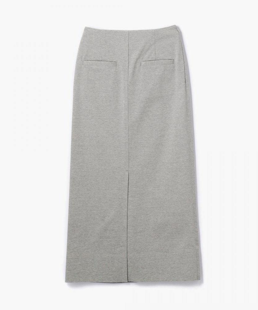 コットンジャージー ロングタイトスカート