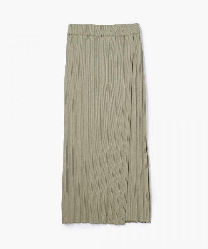 ランダムリブ ロングタイトスカート