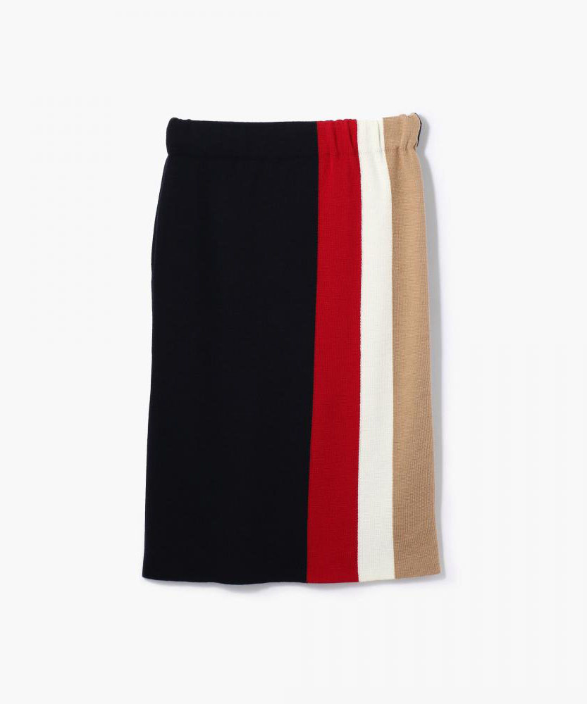 ウールミラノリブ Iラインスカート