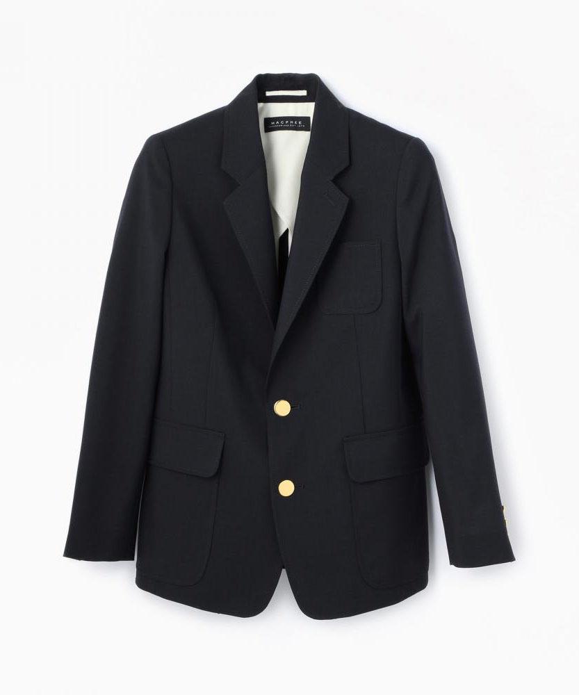 ウールモヘヤ シングルブレステッドジャケット
