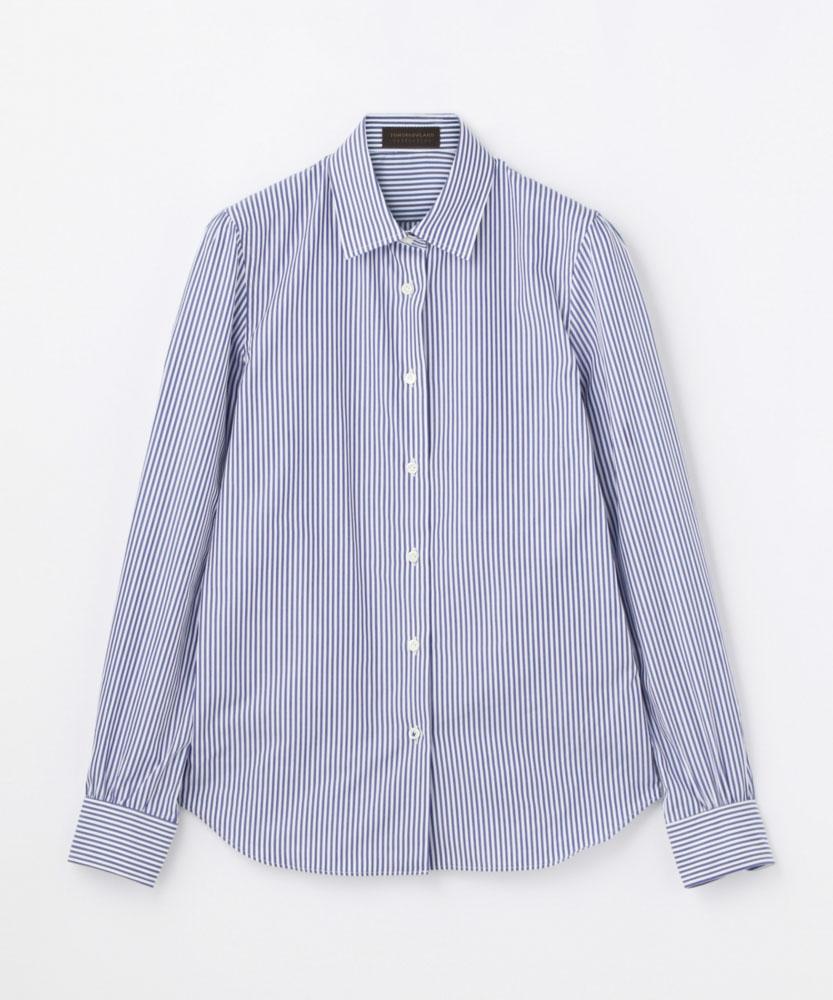 コットンストライプ レギュラーシャツ