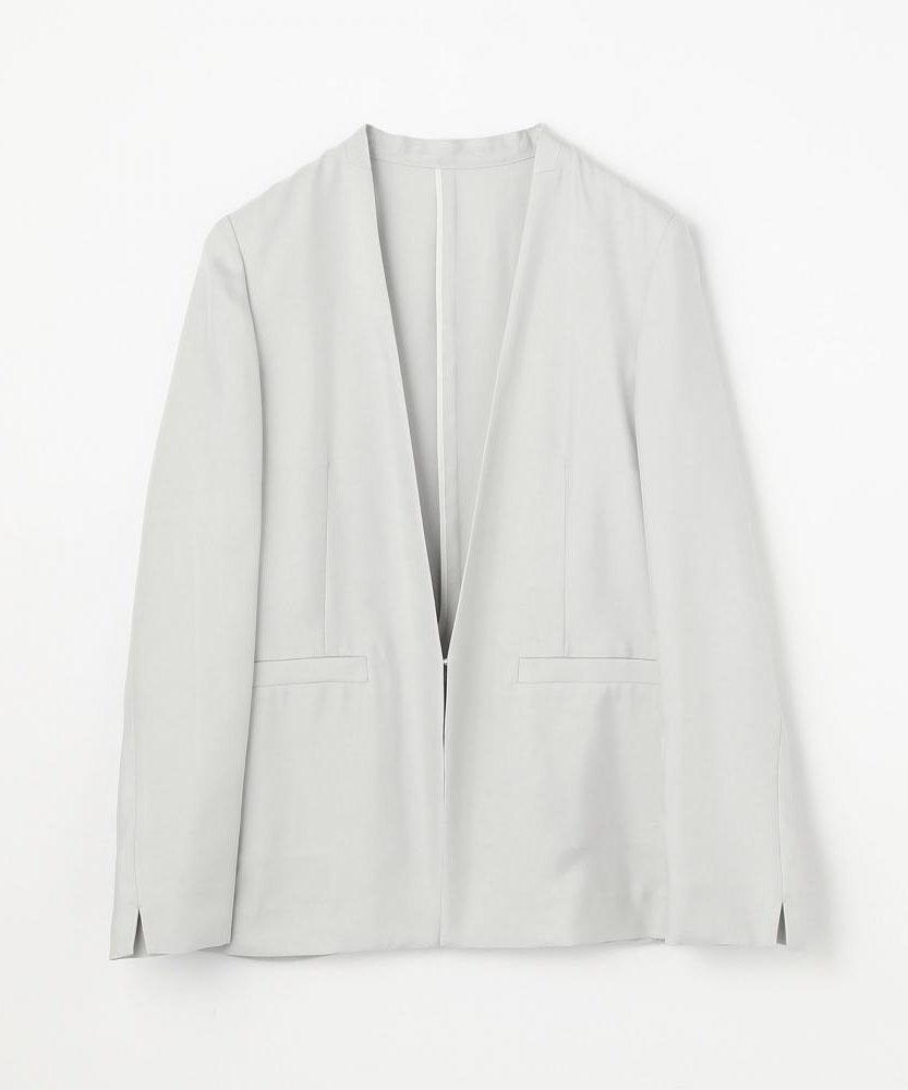 フィブリルツイル ノーカラーライトジャケット