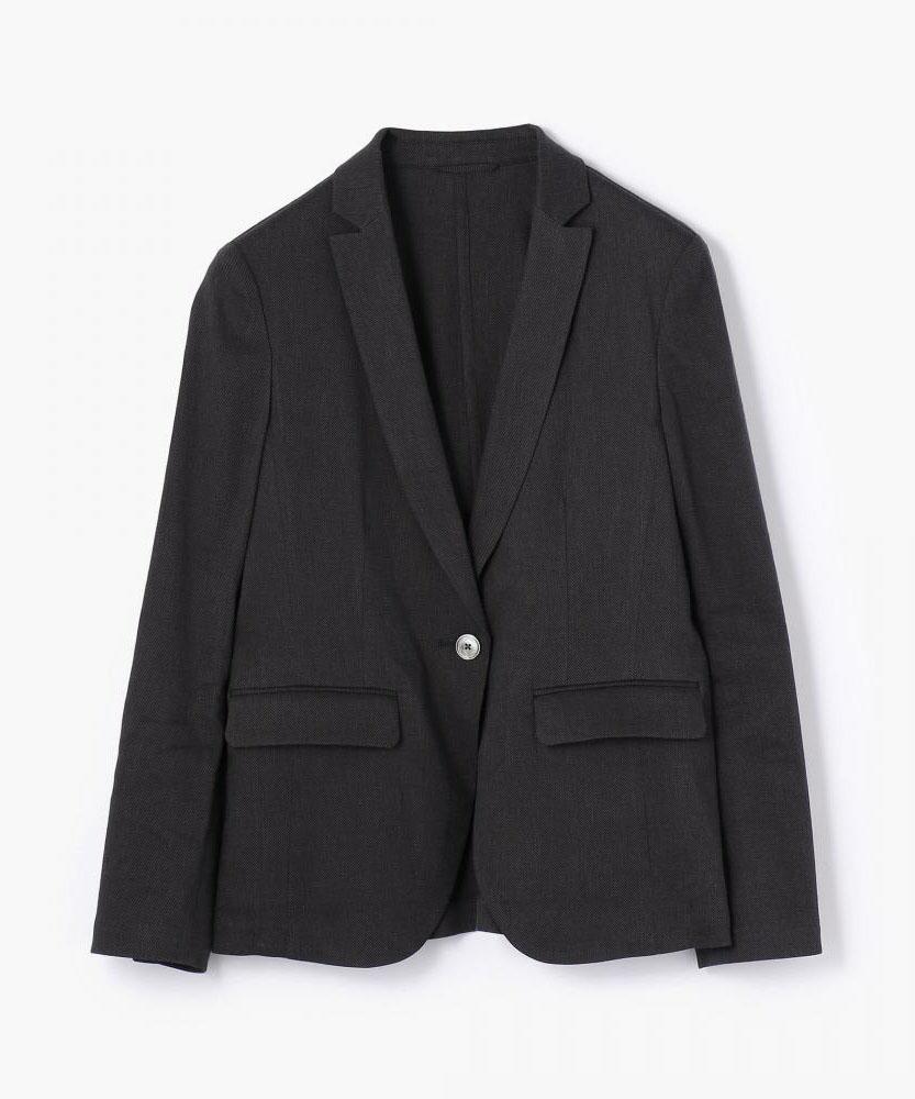 リネンカルゼ セミピークドジャケット