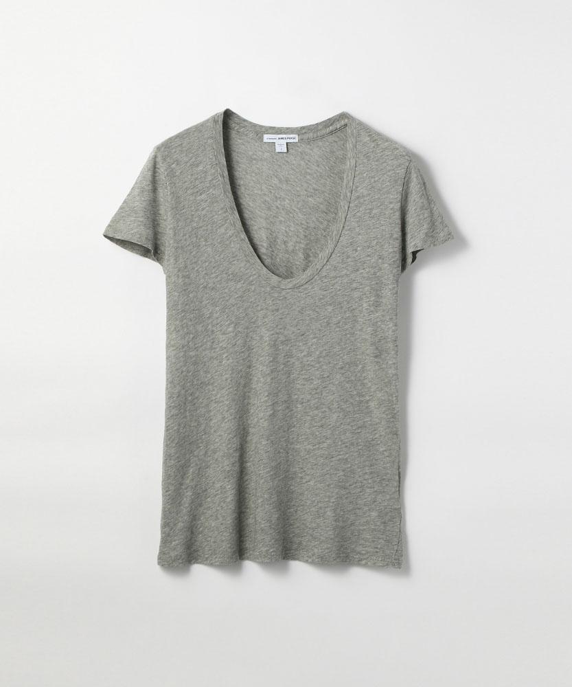 ベーシック UネックTシャツ WHM3449