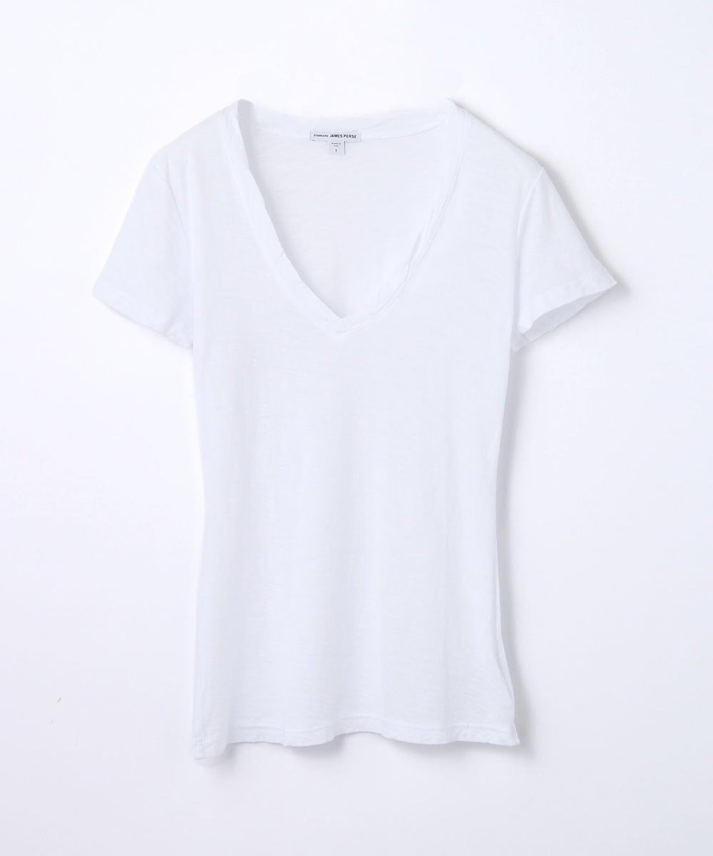 スラブ VネックTシャツ WUA3695