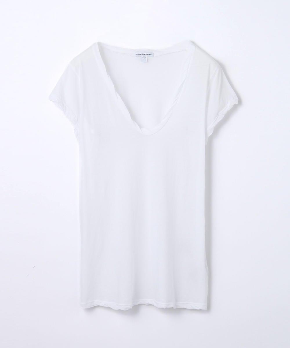 ハイゲージ VネックTシャツ WEK3182