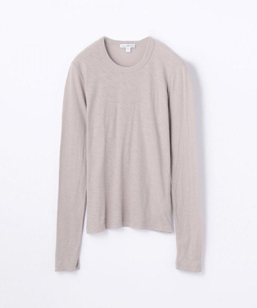 スラブクルーネック長袖Tシャツ WUA3361