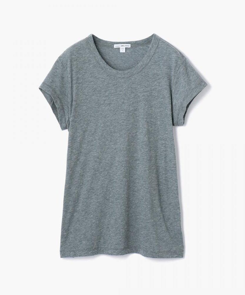 コットンリネン クルーネックTシャツ WCLM3322