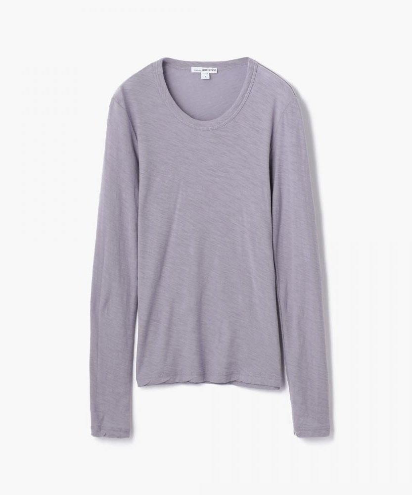 スラブ クルーネック長袖Tシャツ WUA3361