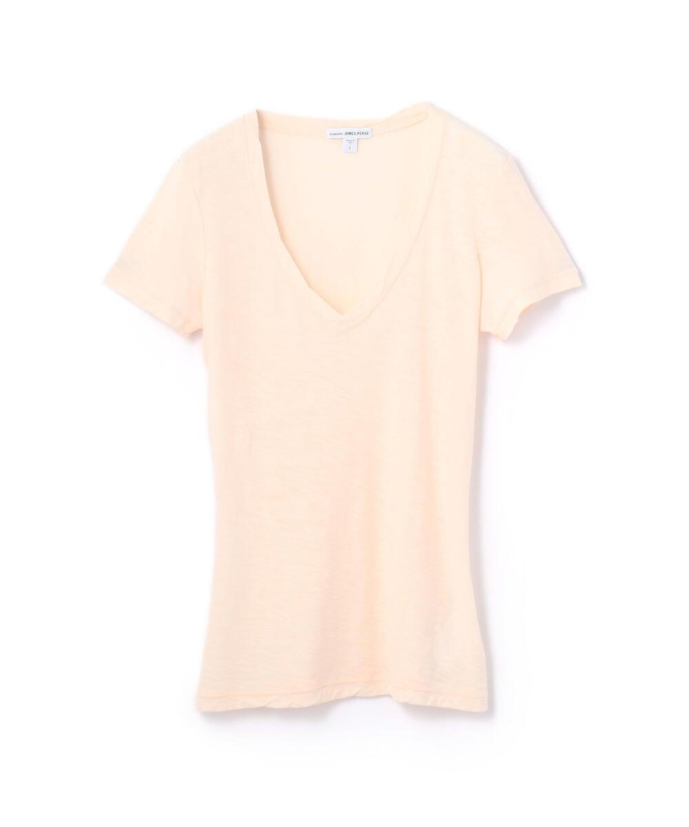 スラブ Vネック Tシャツ WUA3695