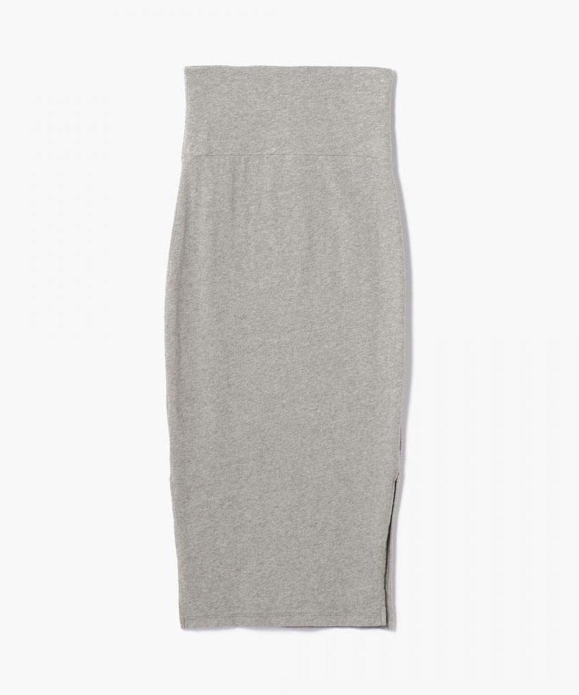 ブラッシュドジャージー サイドスリットスカート WMU5850