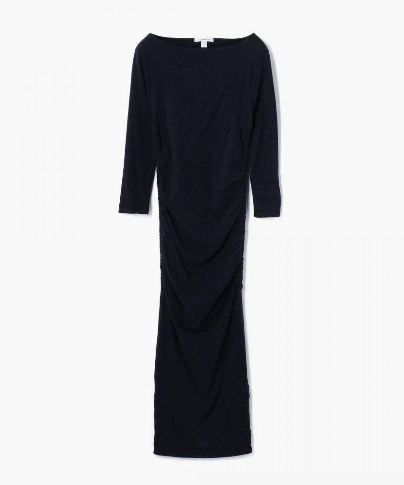 ボートネックドレス WJE6077