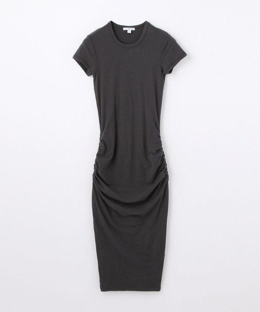 ストレッチジャージー クルーネックドレス WJE6035
