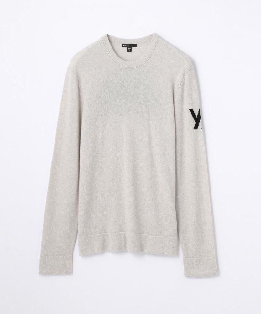 エアーカシミヤグラフィックセーター MOM3038RA