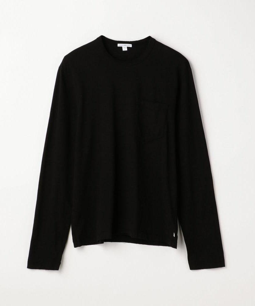 コントラストリンガーグラインド長袖Tシャツ MSX3568G