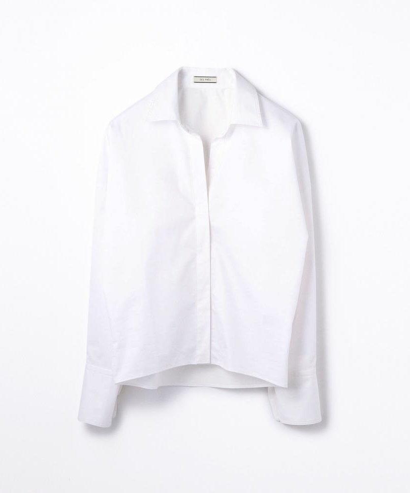 コットンポリエステルツイル ビッグシャツ