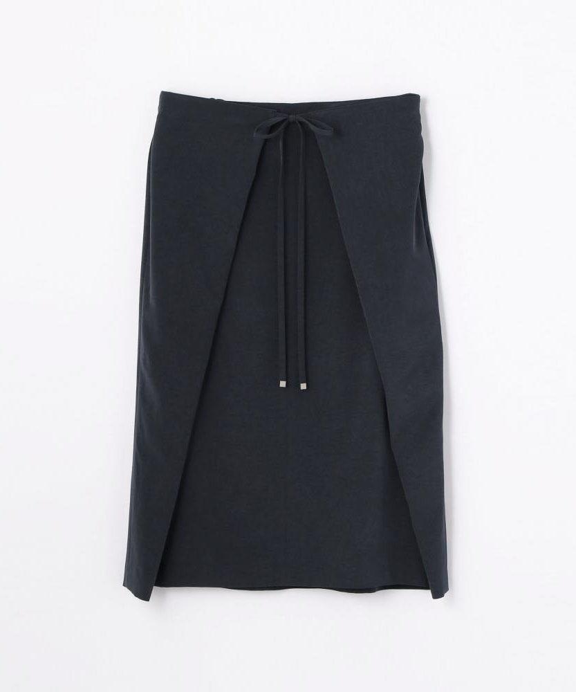 トリアセテートファイユ ストレートスカート