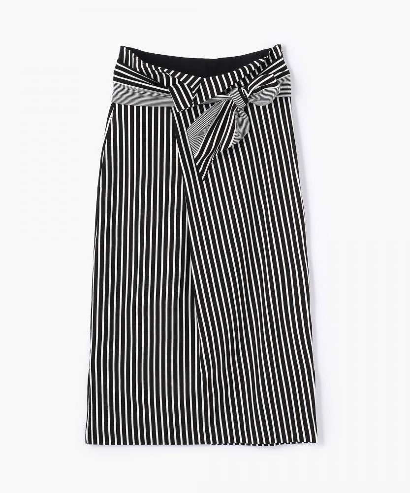 コットンジャージー ベルテッドIラインスカート