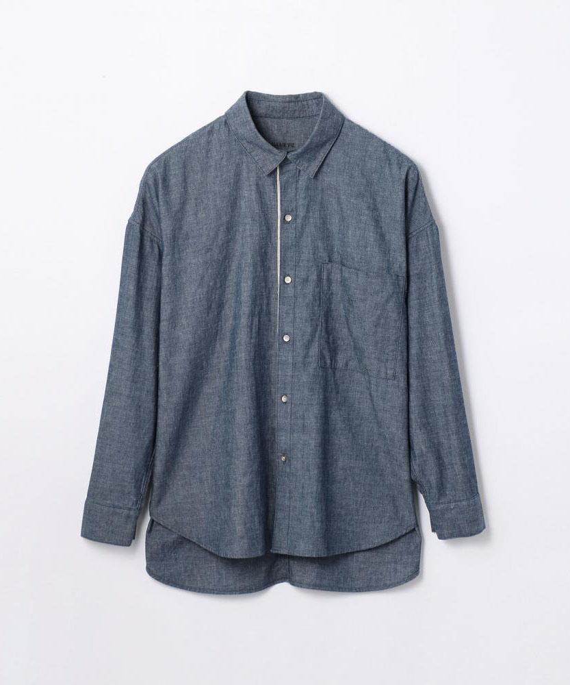 コットンダンガリー ビッグシャツ