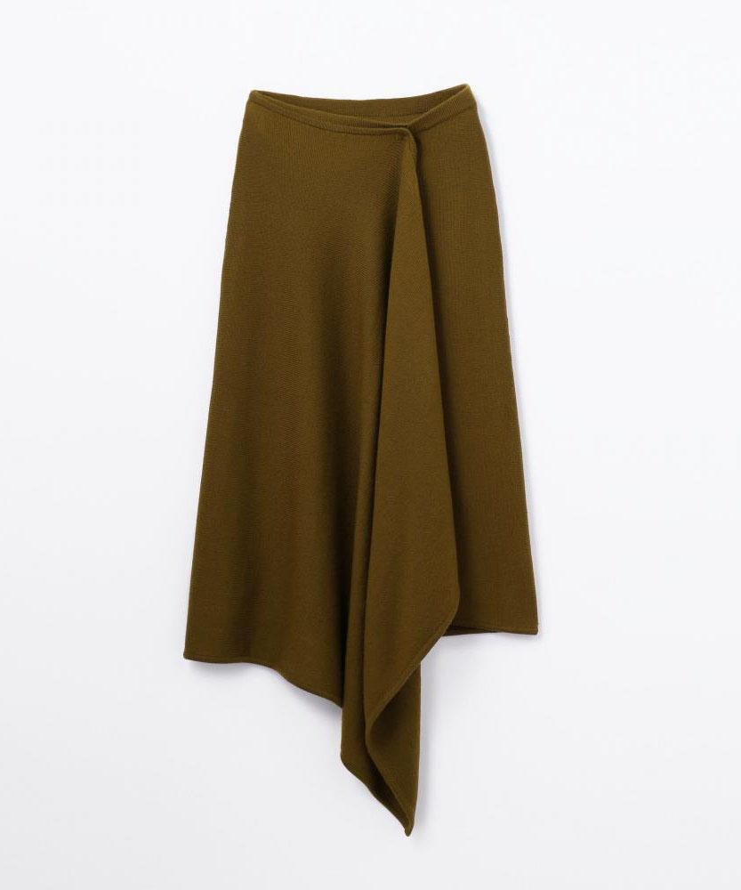 ウーステッドウール ドレープスカート