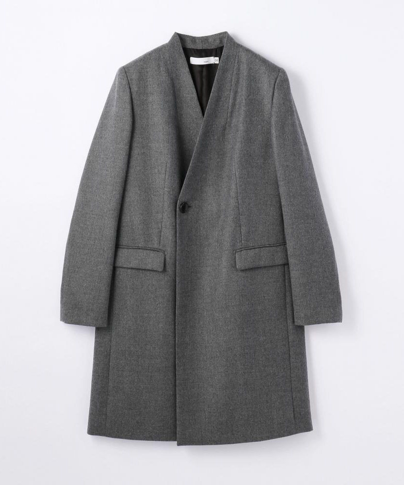 ウールフランネルストレッチ ジャケットコート