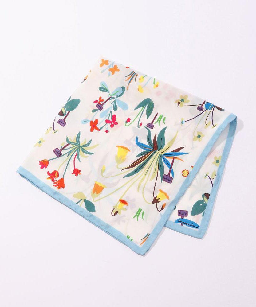 【別注】mii × TOMORROWLAND フラワープリントスカーフ
