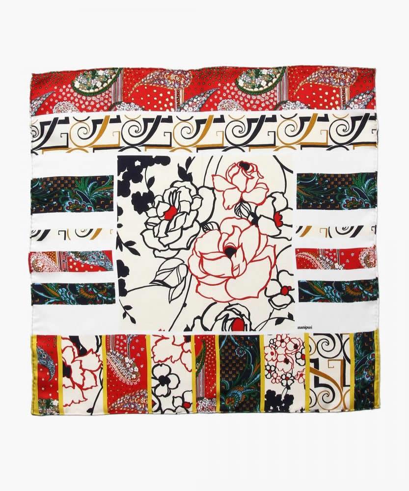 manipuri プリントスカーフ