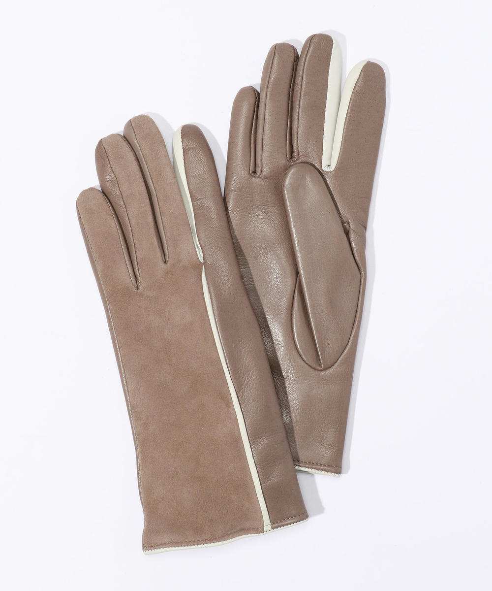 Gala Gloves ラムレザー スエードコンビグローブ
