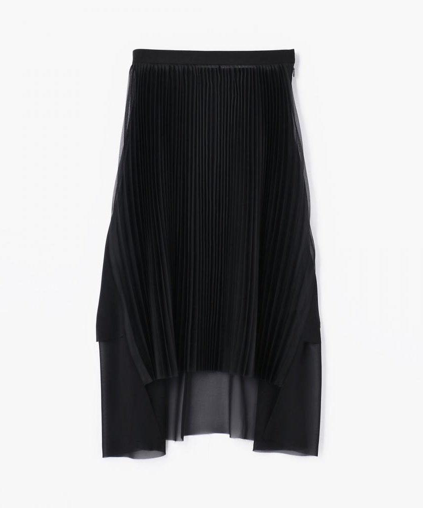 【別注】CLEANA アシンメトリーチュールプリーツスカート