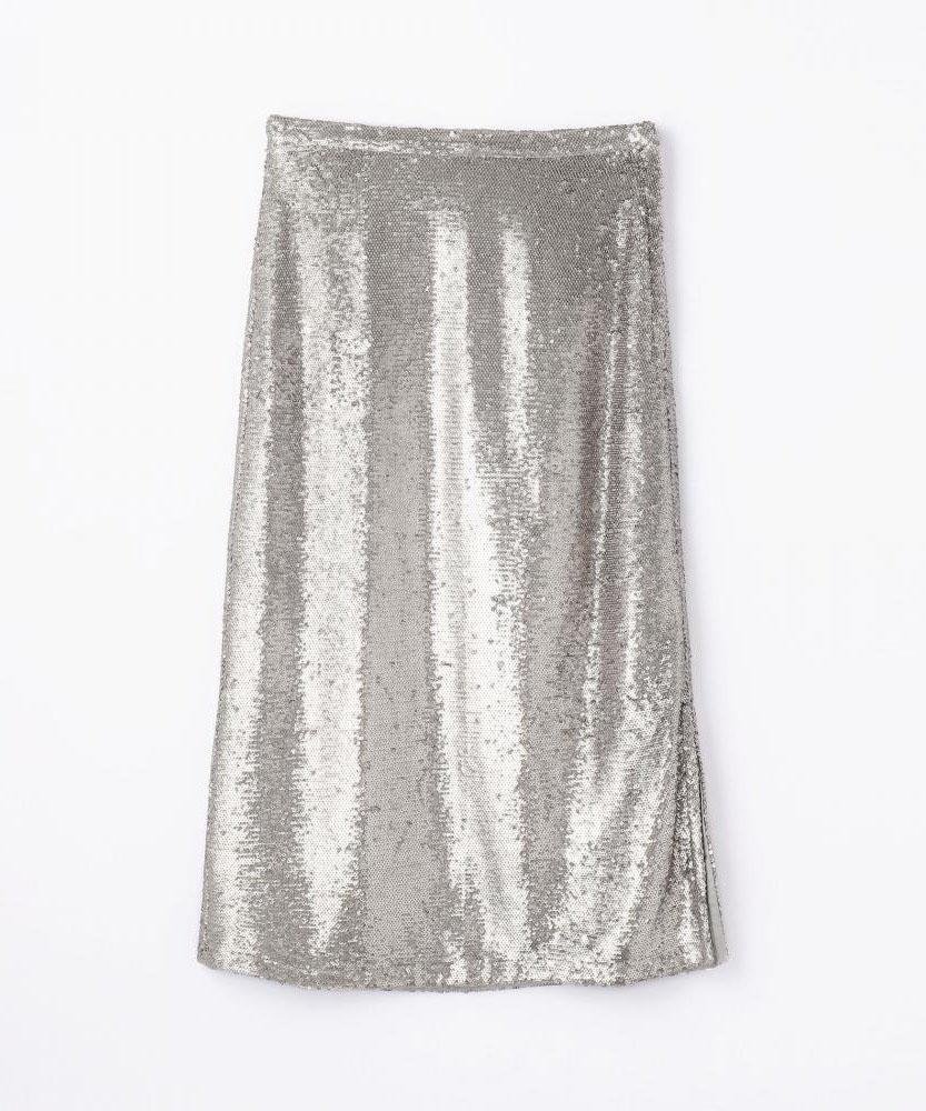 【別注】MITTERNACHT×EDITION スパンコールミディIラインスカート