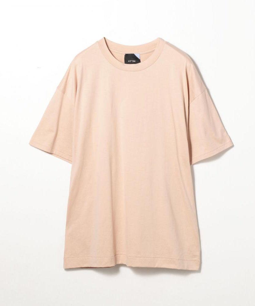 【別注】ATON×EDITION コットンクルーネックTシャツ