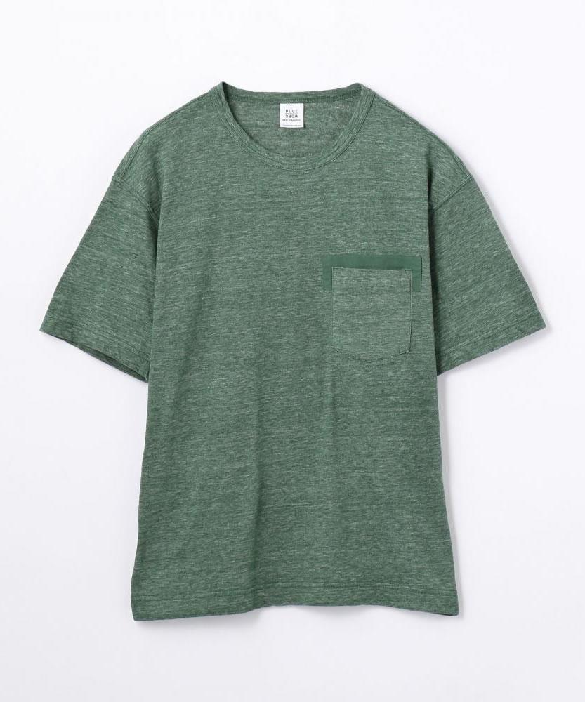 コットン クルーネックポケットTシャツ [PK CREW HS]