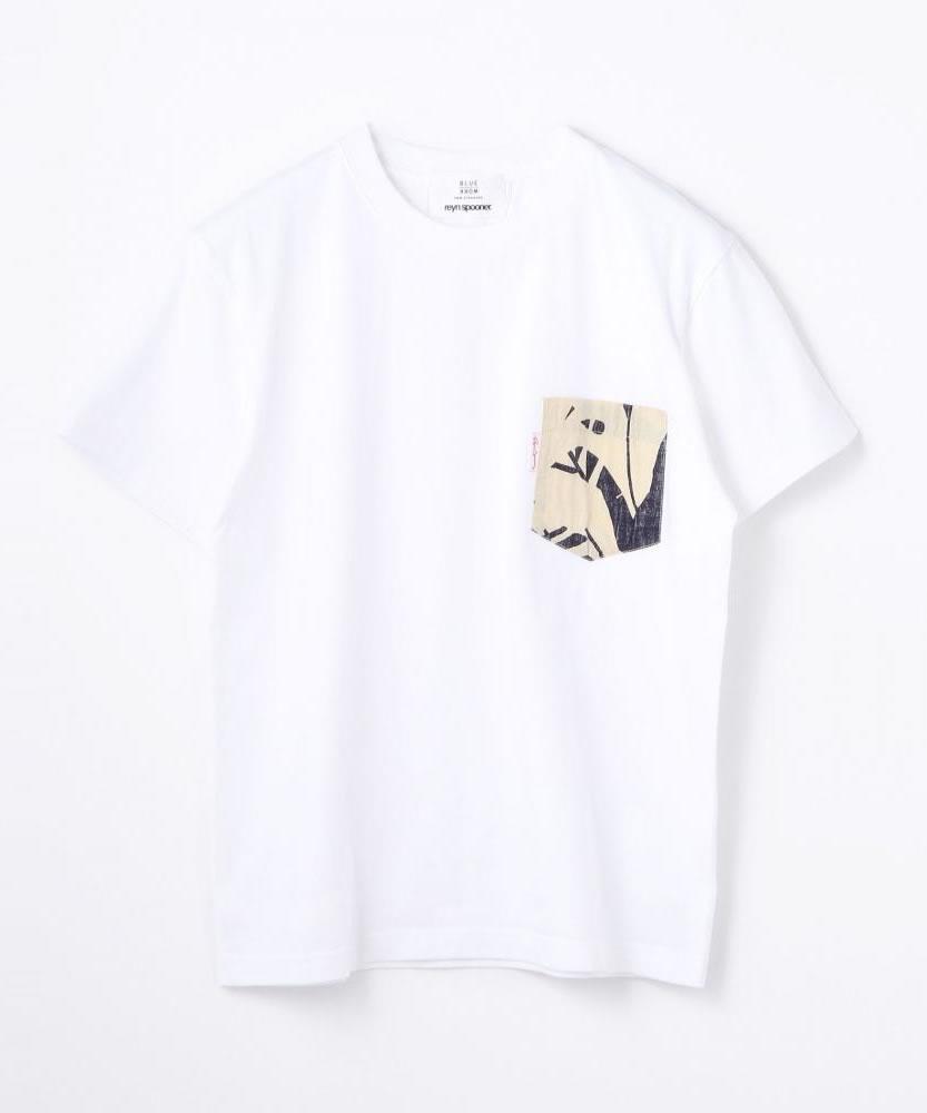 【別注】reyn spooner×BLUE WORK ポケットTシャツ [P・K T]
