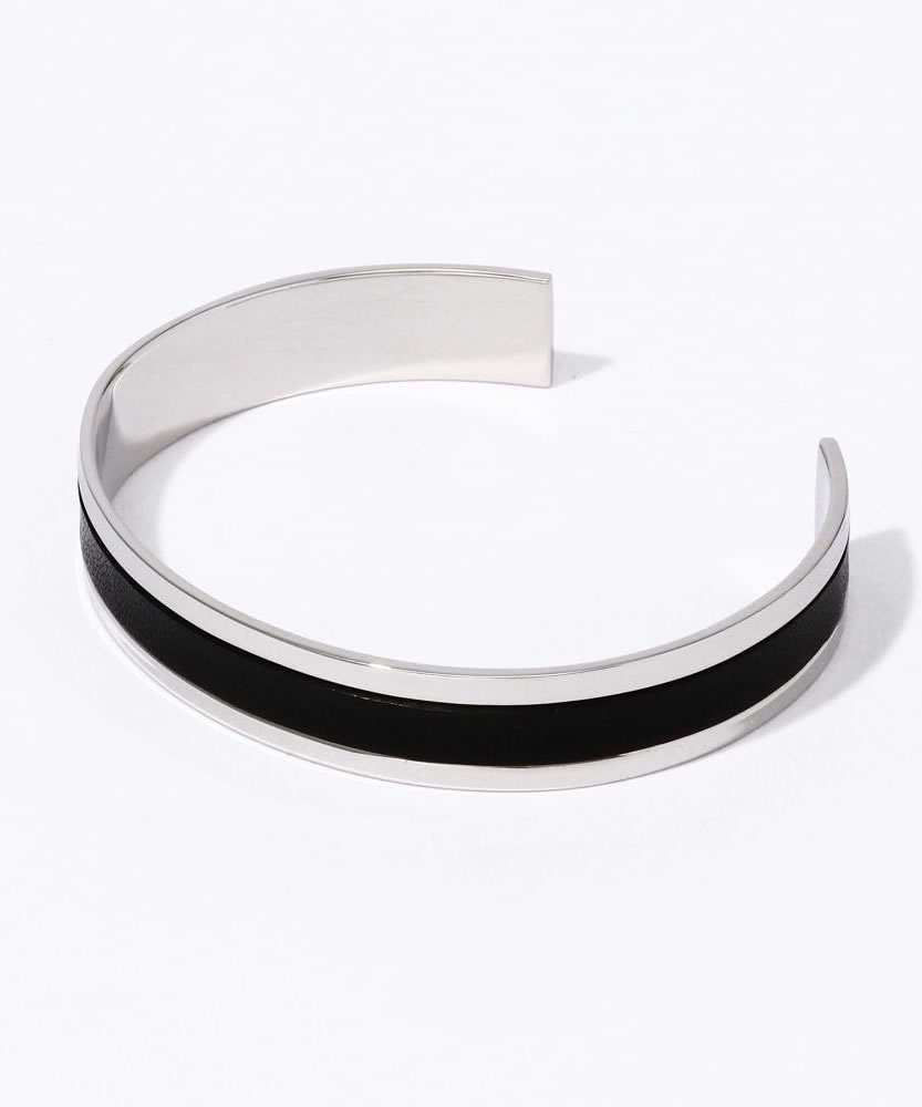 FANTASTIC MAN LEATHER COMBINATION BANGLE330 シルバーバングル