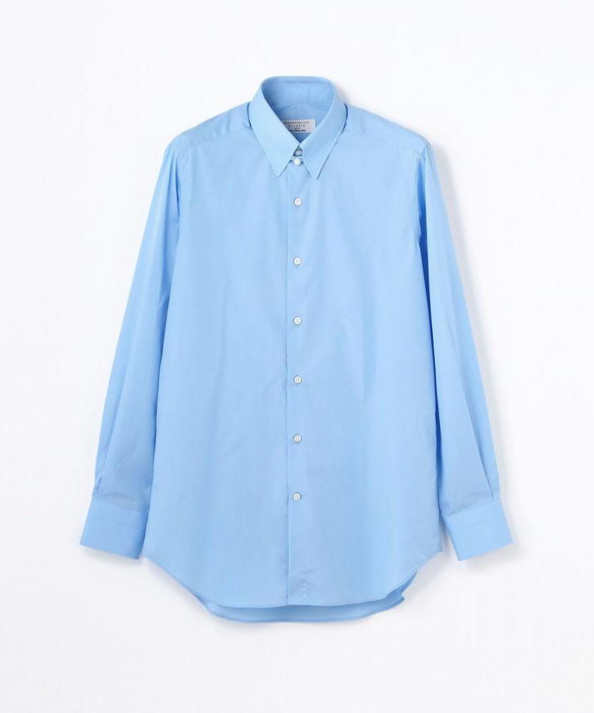 140/2コットンブロード タブカラー ドレスシャツ