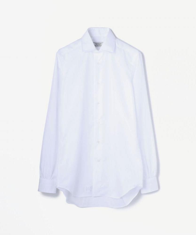 100/2コットンブロード ワイドカラーシャツ(ノンアイロン)